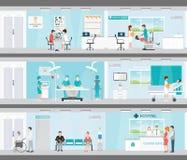医疗服务信息图表在医院 免版税图库摄影