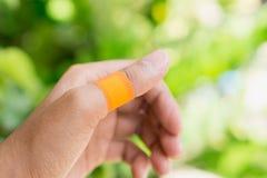 医疗橙色膏药 库存图片