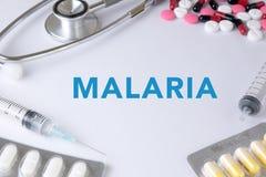 医疗疟疾的概念 图库摄影