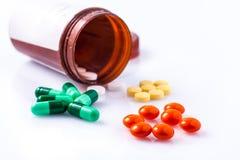 治疗的药物 免版税库存图片
