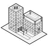 医疗等量大厦 编译的被画的现有量医院例证向量白色 编译等量 概述等量医院 皇族释放例证
