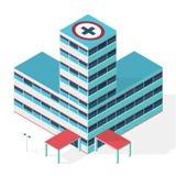 医疗等量大厦 编译的被画的现有量医院例证向量白色 编译等量 概述等量医院 免版税库存照片