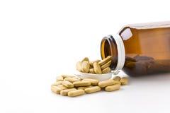 医疗药片,许多医学 免版税库存图片