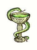 医疗蛇 免版税库存图片