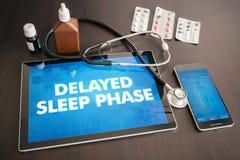 医疗被延迟的睡眠阶段(神经混乱)的诊断 库存图片