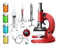 医疗设备和容器 向量例证
