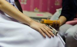 医疗设备和氧气 免版税库存照片