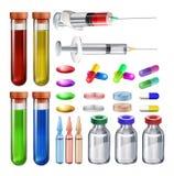 医疗设备和医学 库存例证