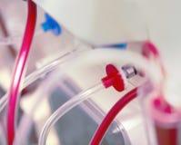 医疗设备特写镜头塑料管  免版税库存图片
