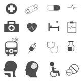 医疗象被设置的传染媒介 免版税图库摄影