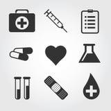 医疗象,平的设计 库存照片