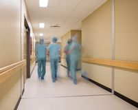 医疗队的被弄脏的行动 免版税库存照片