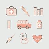 医疗集合 库存例证