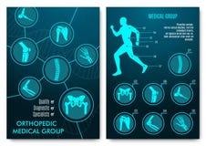 医疗infographic与矫形解剖学图 皇族释放例证