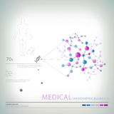 医疗infographic元素 库存图片