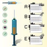 医疗infographics,集合 免版税图库摄影