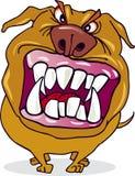 疯狂动画片的狗 免版税图库摄影