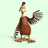 疯狂动画片的鸡 免版税库存照片
