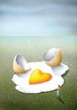 疯狂地在爱,作为一个煎蛋 免版税库存图片