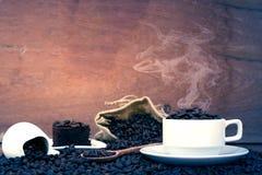 疯狂爱上咖啡 图库摄影