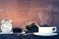 疯狂爱上咖啡 库存图片