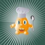 疯狂的主厨鸡蛋 免版税库存图片