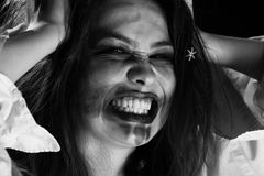 疯狂的乐趣妇女 免版税库存照片