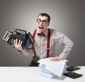 疯狂的会计 免版税库存照片