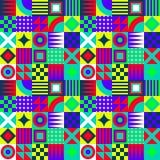 疯狂的几何正方形 库存照片