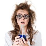 疯狂的化学家 免版税图库摄影