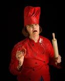 疯狂的厨师 免版税库存照片