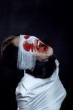 疯狂的叫喊的妇女 免版税图库摄影