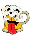 疯狂的啤酒动画片 免版税库存图片