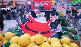 疯狂的圣诞老人 免版税库存照片