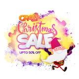 疯狂的圣诞节销售海报、横幅或者飞行物 免版税库存照片