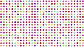 疯狂的多色颜色正方形 股票录像
