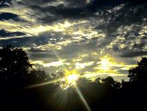 疯狂的太阳 库存图片