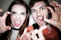 疯狂的夫妇 免版税库存照片