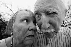 疯狂的夫妇 库存照片