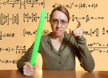 疯狂的女性教师 免版税库存照片