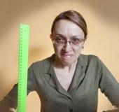 疯狂的女性教师 图库摄影