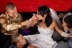 疯狂的婚礼 免版税图库摄影