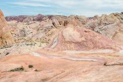 疯狂的小山,火国家公园, NV谷  免版税库存照片