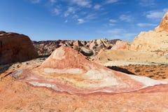 疯狂的小山,火国家公园, NV谷  免版税图库摄影