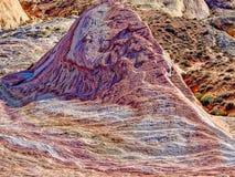 疯狂的小山,火,内华达,美国谷  免版税图库摄影