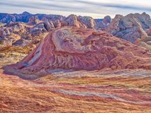 疯狂的小山,火,内华达,美国谷  免版税库存照片