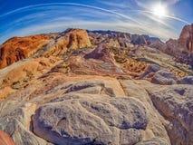 疯狂的小山,火,内华达,美国谷  免版税库存图片