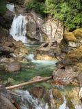 疯狂的小河瀑布 库存图片