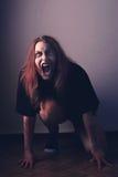 疯狂的拥有的女孩 图库摄影