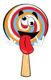 疯狂的棒棒糖动画片 库存图片